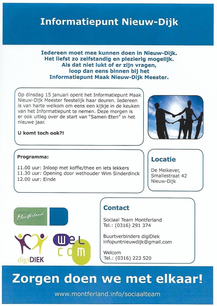 """Dinsdag 15 januari """"Kiekdag"""" in Nieuw-Dijk"""