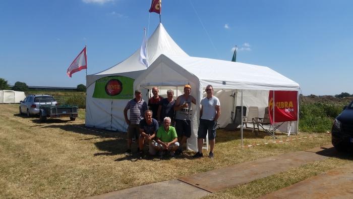 Vierdaagse opbouw camping zaterdag 14 juni 2018