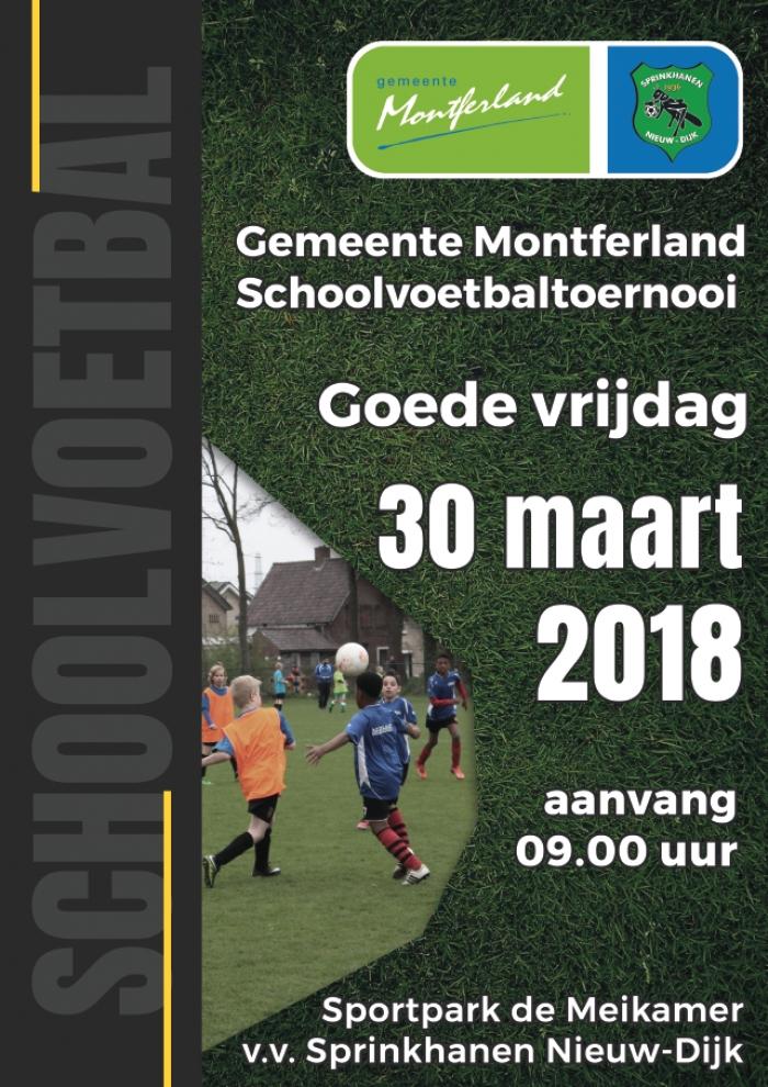 Programma Gemeente Montferland schoolvoetbal 2018.