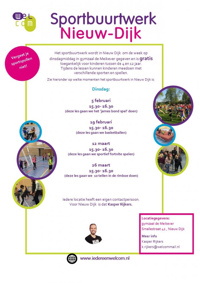 Gratis sporten voor Nieuw-Dijkse kinderen